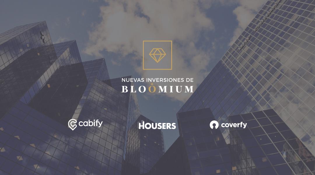 Las nuevas inversiones de Bloomium: Cabify, Housers y Coverfy.